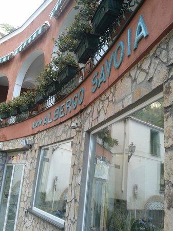 Hotel Savoia : desde la puerta