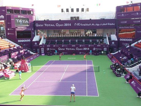 Khalifa Tennis and Squash Complex: Qatar Total Open 2014 Dubles Final
