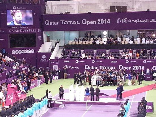 Khalifa Tennis and Squash Complex: Qatar Total Open 2014 Singles Winner Presentation