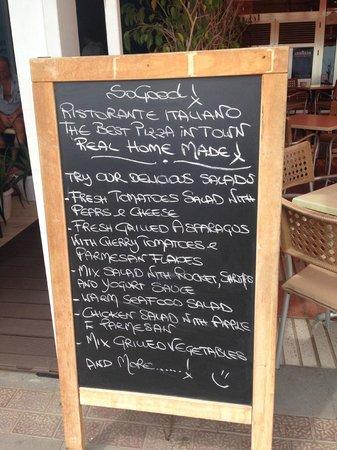 SoGood!: Todays menu