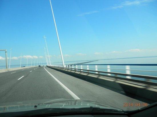 Vasco da Gama Bridge : vista sobre Tajo