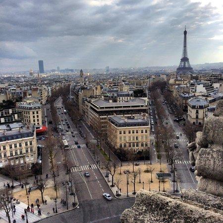 Arc de Triomphe : Вид, открывающийся с триумфальной арки