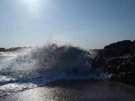 Playa Las Peñitas: Active wave