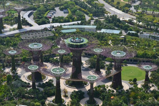 Marina Bay Sands: View of Botanic Gardens from Hotel roof
