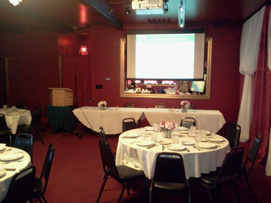Bistro by the Sea: Screen & Projector for corporate events