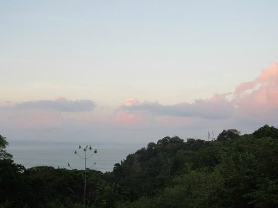 TikiVillas Rainforest Lodge & Spa: view from Villa #4 at sunset