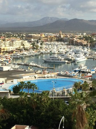 Sandos Finisterra Los Cabos: View of the marina from Don Diego's