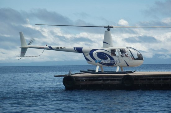 Helicopter On Pontoon Picture Of Quicksilver Cruises