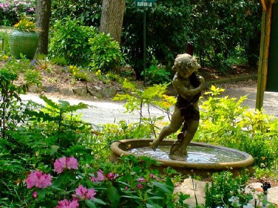 Asheville Cabins of Willow Winds: Nice fountain shot