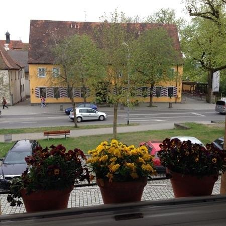 Mittermeier Restaurant & Hotel: View from the window.  Flower pots lined the window opening.