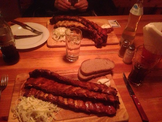 Ribs of Vienna: 1 mtr ribs, but very thin. Taste great but not tender.