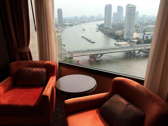 Shangri-La Hotel,Bangkok: Blick aus dem Fenster
