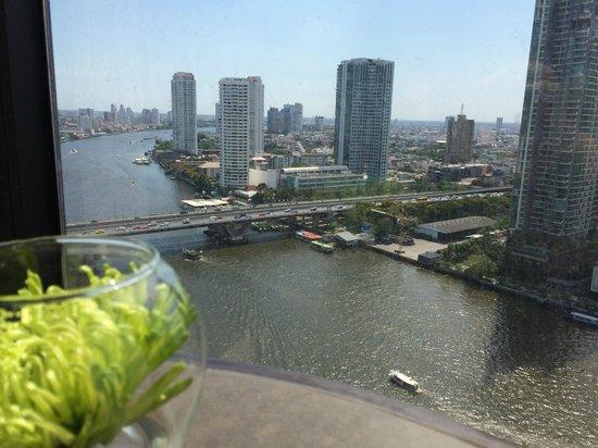 Shangri-La Hotel Bangkok : Horizon Club Lounge - Aussicht