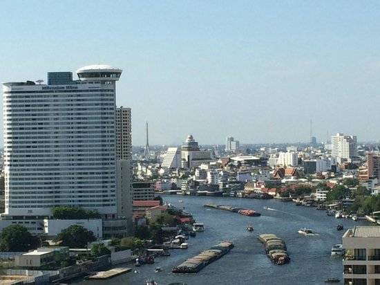Shangri-La Hotel,Bangkok : Blick aus dem Fenster