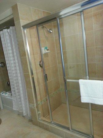 Hyatt Regency Century Plaza: Century Suite full bath with separate shower