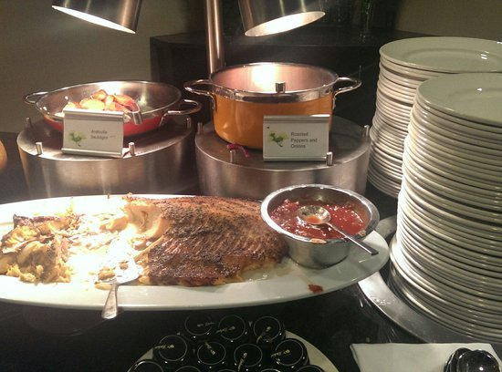 The Westin Tysons Corner: They have a full salmon and smoke salmon at the buffet breakfast. I can't believe it.
