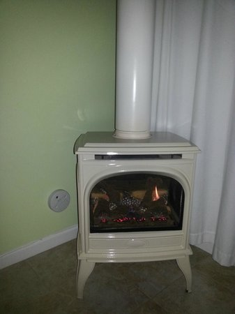 Harkey House Bed and Breakfast : Gas fireplace