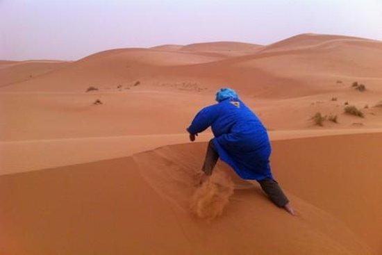 Surfing The Sand Dunes Morocco Desert Trek Picture Of