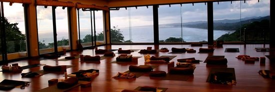Yoga room at Blue Spirit