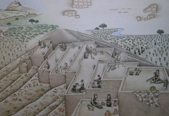 Tuzigoot National Monument : a view of what it must have looked like
