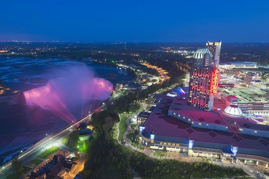 view from skylon tower at night - picture of skylon tower