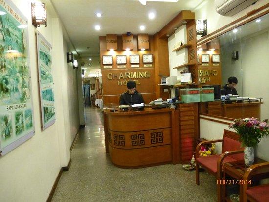 Hanoi Charming Hotel: Reception area