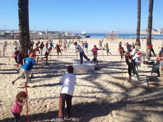 Hotel Montemar: Fitness on beach