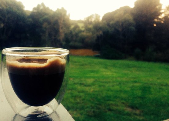 The Orchard Luxury B&B: Morning nespresso on our deck