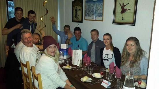 Champs Avalins Hotel: Our group after the amazing diner