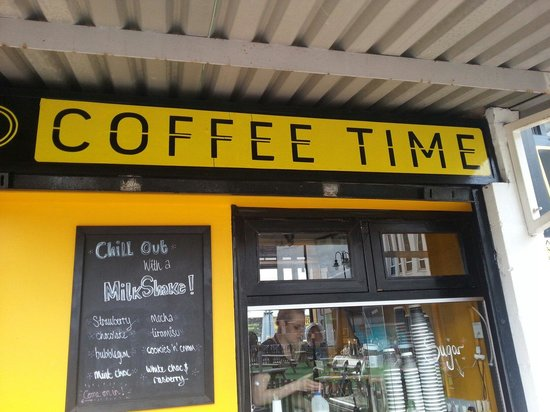 Coffee Time. It's like a closed and medium sized stall