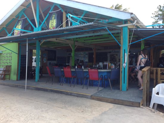 Rhythms at Rainbow Beach: Notice the comfortable chairs not barstools and bartenders are still face to face