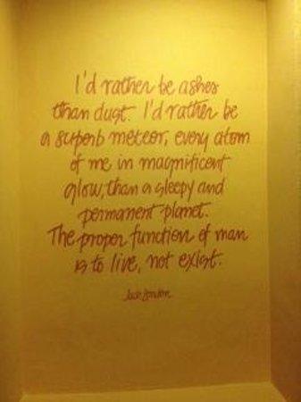 Hotel Rex, a Joie de Vivre hotel: written on the wall...
