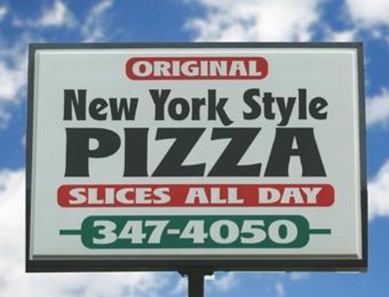 Empire Pizza: Find us by our sign
