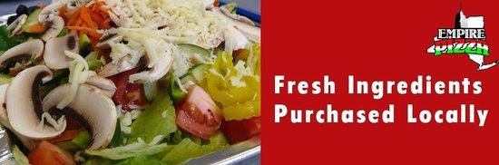 Empire Pizza: Great Fresh Salads