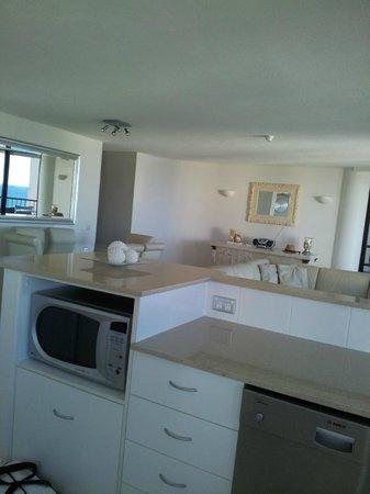 Regent Apartments: Parte interna da cozinha