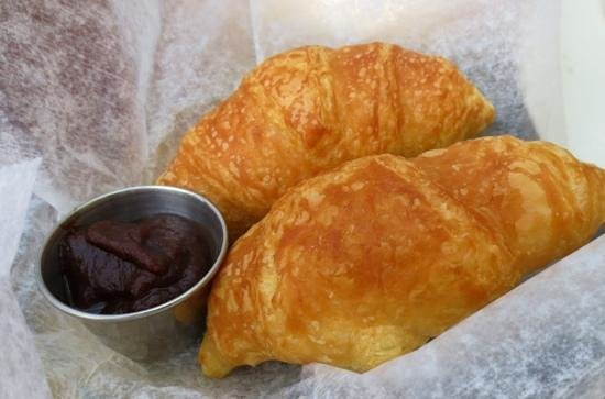Judie's : Flaky croissants the came with lobster salad