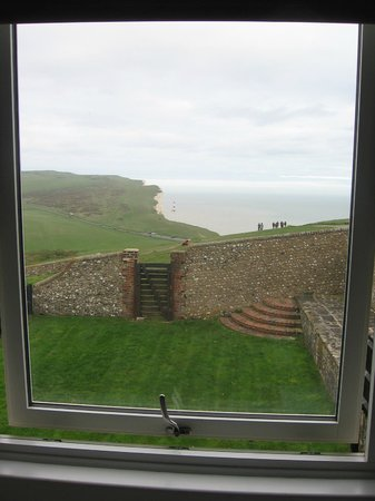 Belle Tout Lighthouse: View across to Beachy Head lighthouse