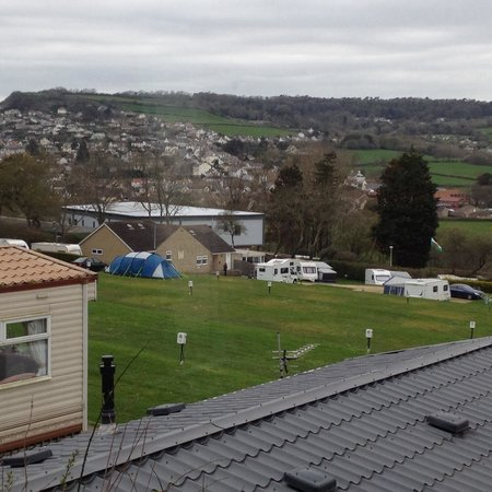 Newlands Holiday Park: View from caravan No7