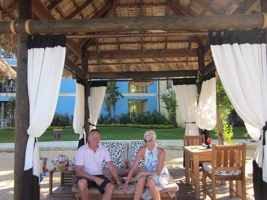 Sandals Whitehouse: well worth having a private cabana for the day