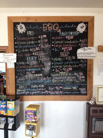 George's Old Time Bar-b-Que : Menu
