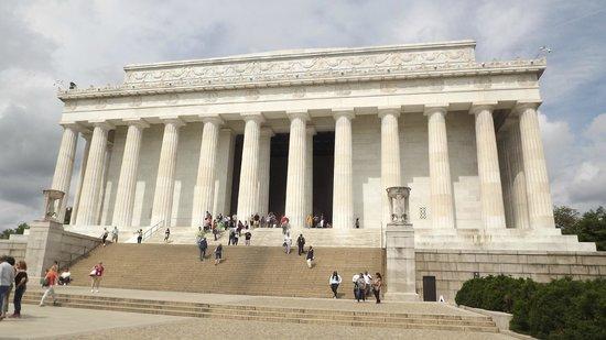 Il colonnato del Lincoln Memorial