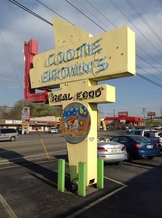 Cootie Brown's: Street sign
