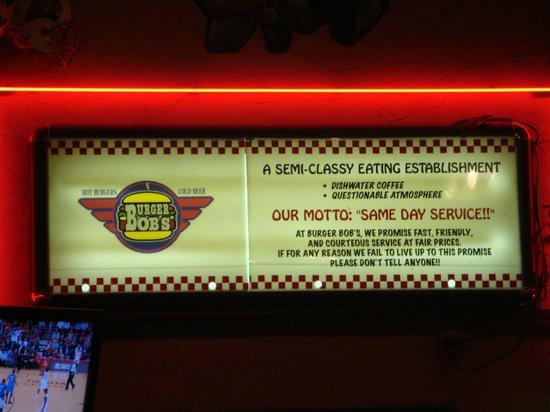 Burger Bob's: Management Creed