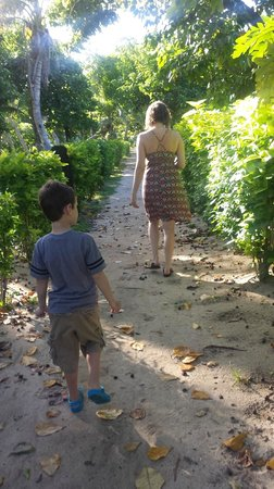 Bounty Island Resort : Walking to breakfast