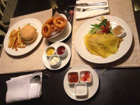 Oriental Residence Bangkok: food order form the hotel resturant