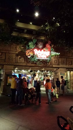 Rainforest Cafe: Main entrance on the main walkway in Downtown Disney