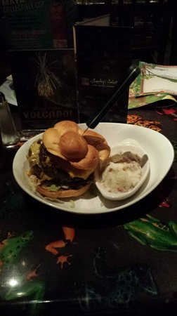 Rainforest Cafe: The Beastly Burger with a side of Garlic Mashed Potatoes