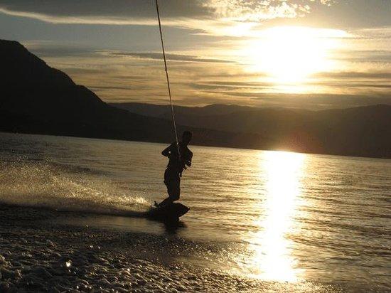 Wakeboarding on Shuswap Lake