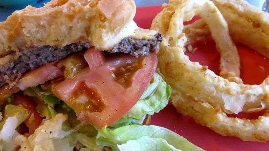 Lost Maples Cafe: Onion rings are worth the trip along
