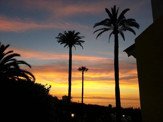 Villa Rosalva: Herrlicher Sonnenuntergang von der Terrasse aus beobachtet